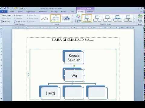 Membuat struktur organisasi di words 2010 youtube ccuart Gallery