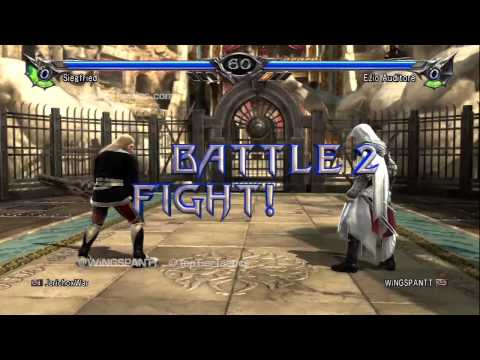 WiNGSPANTT (Ezio) vs JerichoxWar (Siegfried): Soul Calibur 5 Ranked Matches