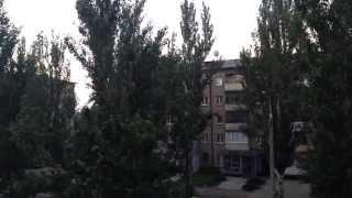 Луганск 4 утра / работает артиллерия 10.07.2014
