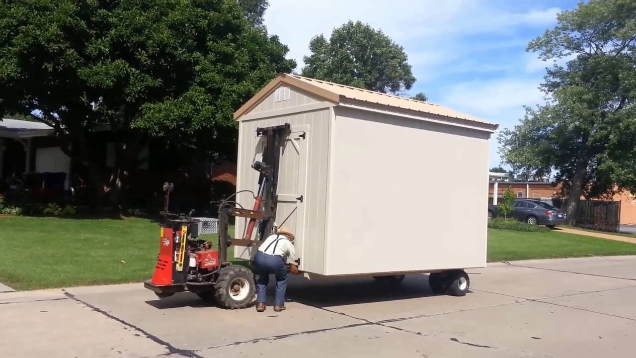 My New Shed Cardinal Buildings Delivery Heavy Duty Mule Forklift You