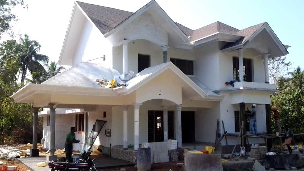 Construction Almost Completed European Style House For