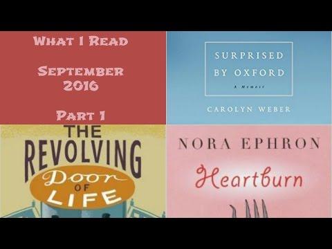 What I Read – September 2016 (Part 1)