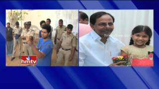 CM KCR All Set To Visit Lakshmi Srija House For Lunch | Live Updates From Khammam | HMTV