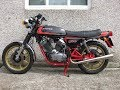 Moto Morini 500 exhaust and fly by compilation