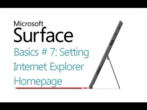 Surface RT Tips - Basics: #7 Browser Homepage Microsoft Windows 8