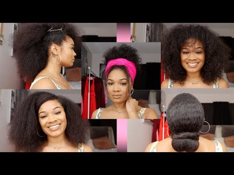 Natural Hairstyles For Medium Length Hair Bad Hair Days Youtube