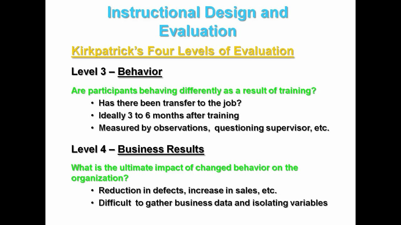 the four level model of evaluation essay