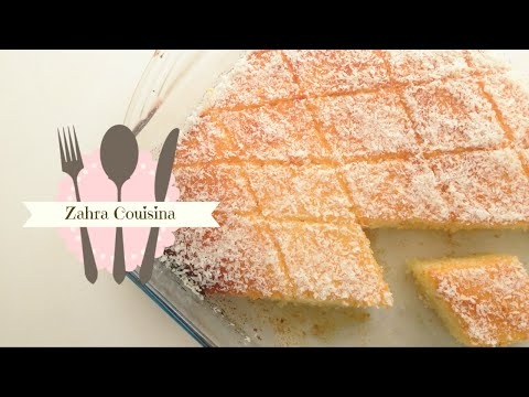 Coconut Basbousa ( Semolina Cake Drizzled With Syrup)
