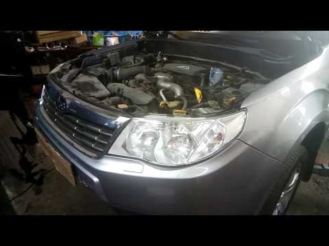 Субару Форестер / Subaru Forester замена ремня ГРМ 2008г. ###
