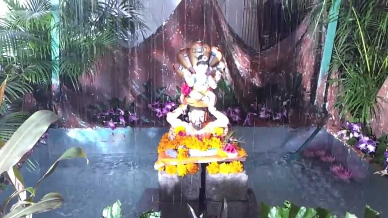 Ganpati Decoration At Home 2012 Live Rain Jay Raichura Youtube
