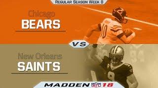 Bears vs Saints   Madden NFL 18 NFL Week 8 Game Highlights