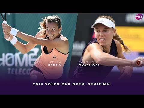 Petra Martic vs. Caroline Wozniacki | 2019 Charleston Open Semifinal | WTA Highlights