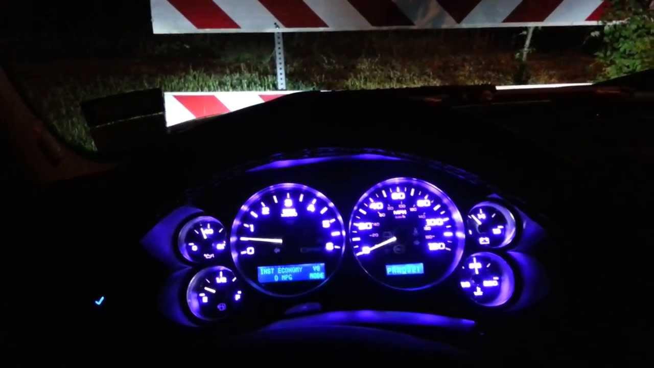 08 Silverado complete interior blue led Conv. - YouTube