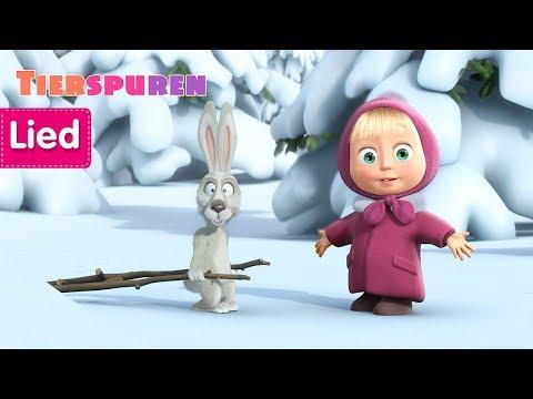 Mascha und der Bär - 🐾  Ein Lied über Tierspuren und Fährten lesen👣  (Spuren im Schnee)