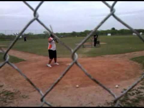 1st time with Coach Alejandro Gomez -la feria,tx lion kenneth working to improve the bat '09