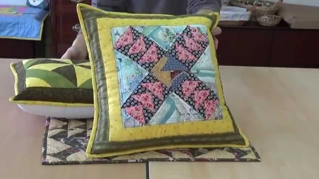 Cojines patchwork   YouTube