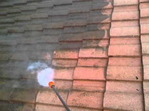 Carlsbad tile roof cleaning with pressure washer youtube - Using water pressure roof cleaning ...