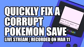 Quickly Fix a Corrupt Pokemon Save - Coffee with mmmStephen EP 8