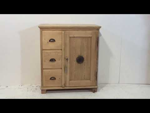 19th Century Small Larder Cupboard - Pinefinders Old Pine Furniture Warehouse