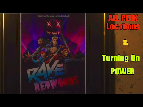 All Perk Locations & Powering On The Map (Rave In The Redwoods) - Call of Duty: Infinite Warfare