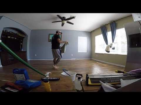 Cleaning grout haze off tile floor Part 2