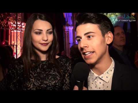 Interview Michele Perniola & Anita Simoncini at the opening reception in Vienna - San Marino Eurovis
