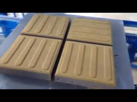 coloured pavers making automatic production line