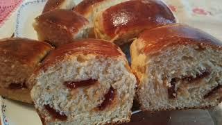 Pão De Leite Com Recheio De Goiabada