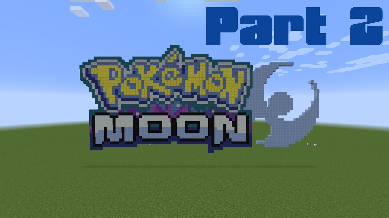 How to make the pokemon moon logo in minecraft part 2 - Pokemon logo minecraft ...