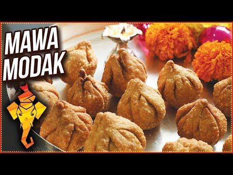 Ganpati Special Mawa Modak Recipe - How To Make Fried Mawa Modak - Khoya Modak Recipe - Ruchi