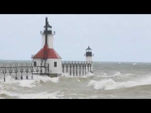 April waves at St. Joseph lighthouse video