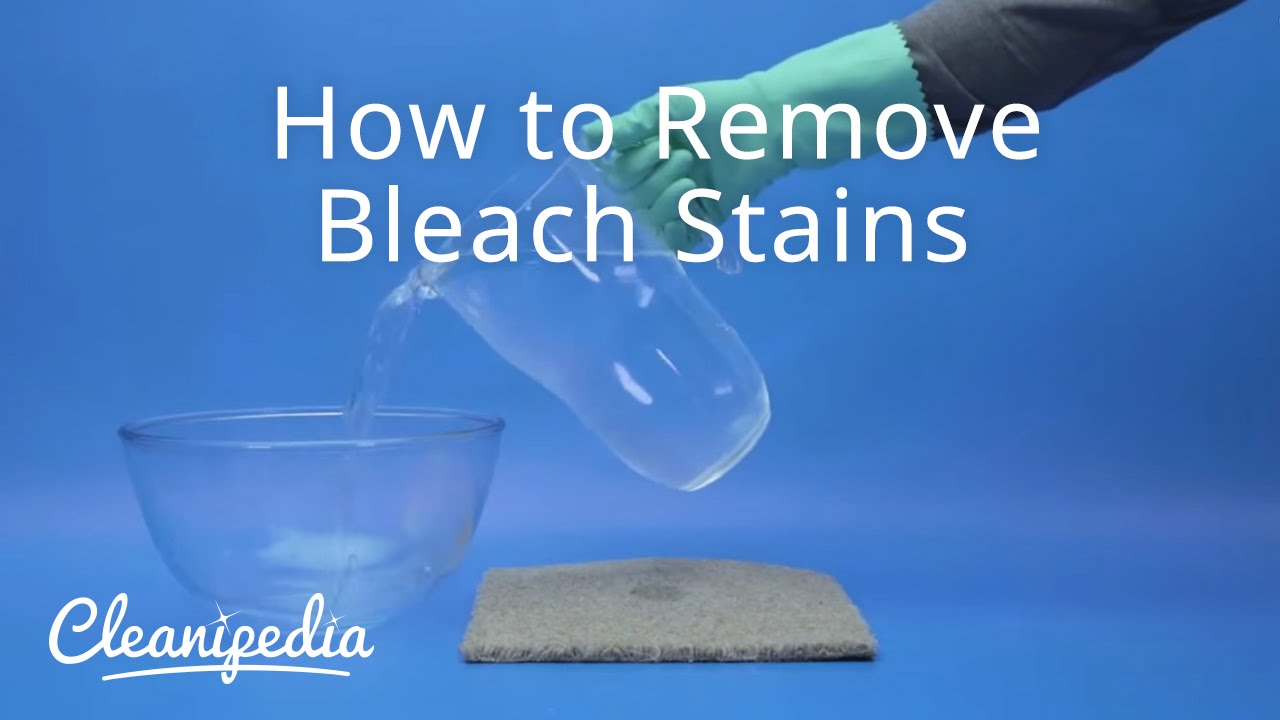 How to remove bleach stains youtube for How do you dye a shirt