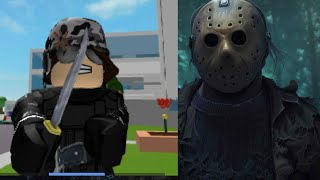 Fighting Jason in roblox