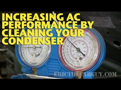 Increasing AC Performance by Cleaning Your Condenser -EricTheCarGuy
