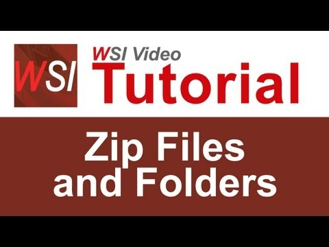 How to work with zip files and folders