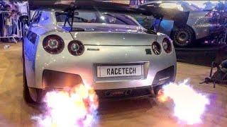 Exhaust Fire Of GTR |Top Speed Nissan GTR's In India | Super Cars In Kochi | #doczilla |#Pfs2018