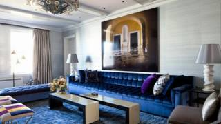 Royal Blue Living Room With Sofa Ideas Youtube