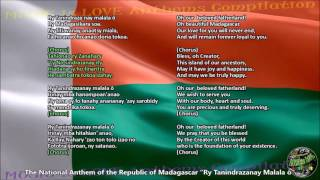 Madagascar National Anthem with music, vocal and lyrics Malagasy w/English Translation