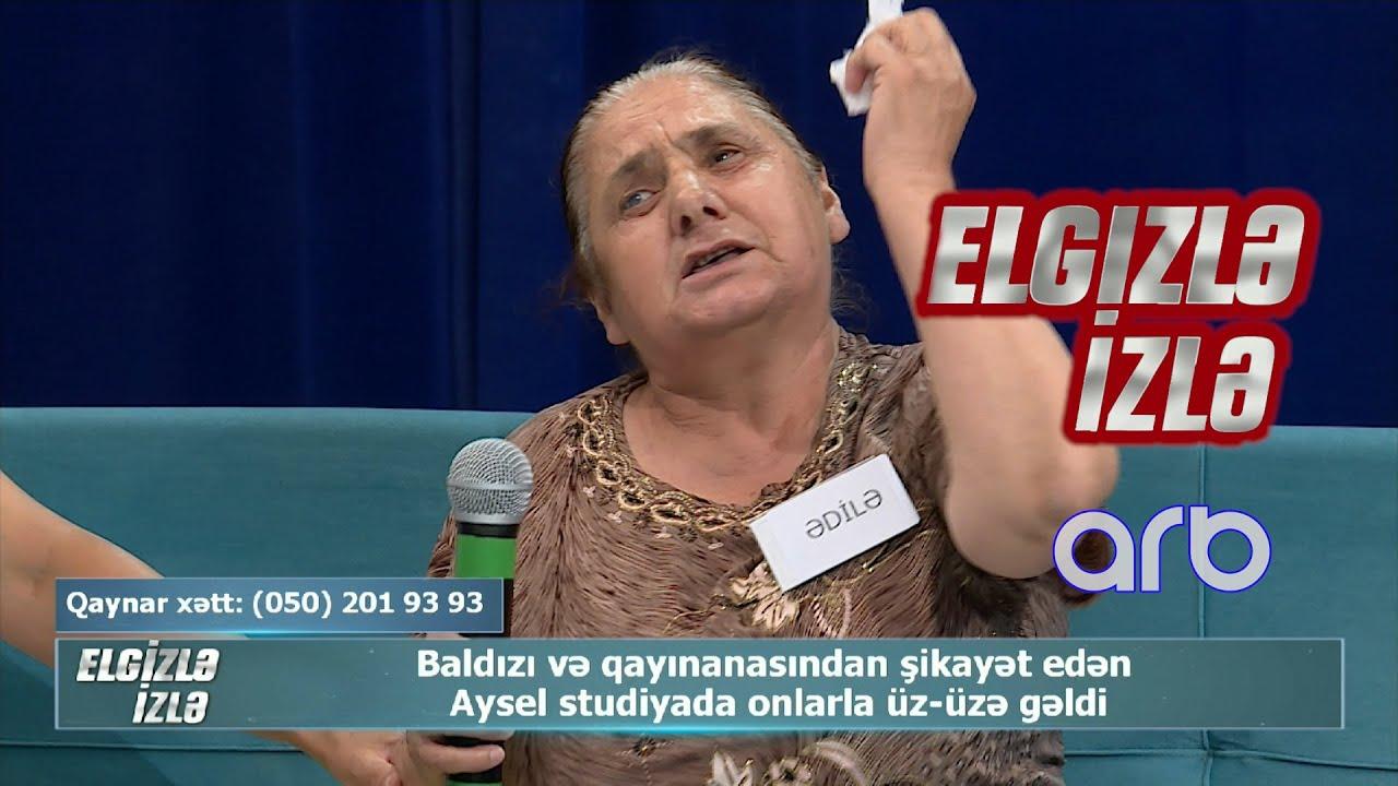 Studiyada gərgin anlar - Gəlin baldız və qayınanası ilə üz-üzə gəldi - Elgizlə İzlə