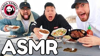 ASMR Mukbang Panda Express (Eating Show) WITH REAL SOUNDS!!!!!