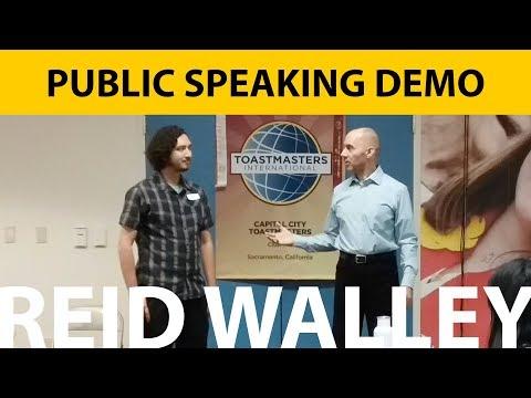 Public Speaking Demo – June 2018