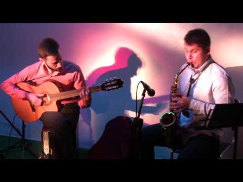 Дуэт саксофона и гитары. Шамситдин Мирзоев и Евгений Хачиров (Астрахань)