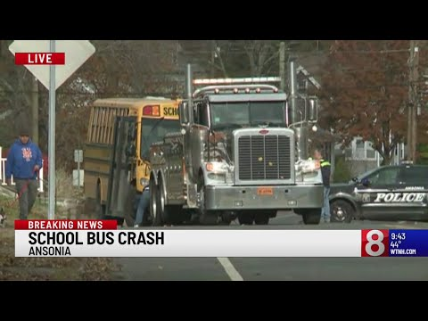 Kids on board Ansonia School Bus at time of crash