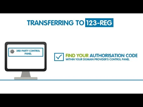 Where To Find A Domain's Authorisation Code   123-reg
