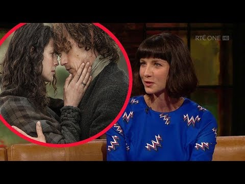 """Caitriona Balfe reveals Outlander producers wanted to focus on the """"passion and chemistry"""" with Sam."""
