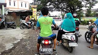Suasana Sore Hari Jl Raya Mangun Jaya Tambun Bekasi (Pom Bensin)  Weekend Motovlog