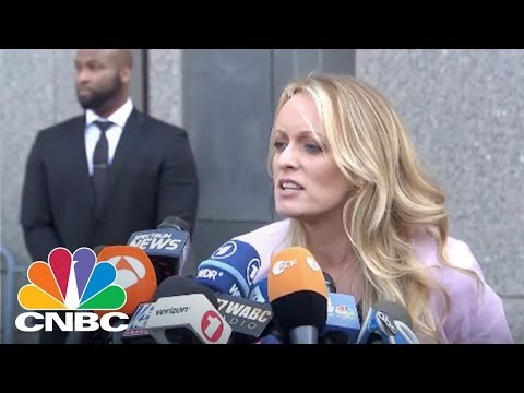 Stormy Daniels' Statement Outside NYC Courthouse | CNBC