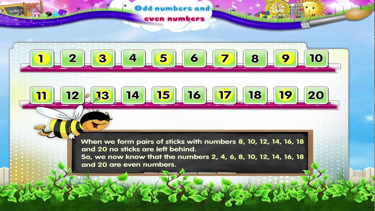 Learn Grade 2 - Maths - Odd Numbers and Even Numbers - YouTube