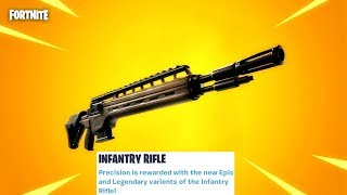 "Fortnite New Legendary ""Infantry Rifle"" Update Countdown + Gameplay! (Fortnite New Update)"