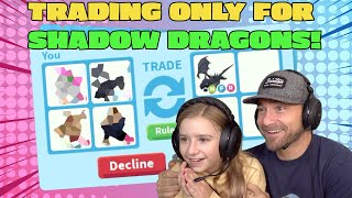 Trading Only For Shadow Dragons!! Roblox Adopt Me!!